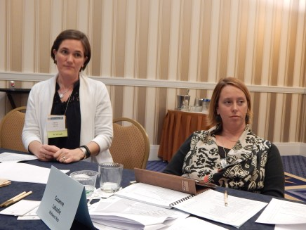 TYCA Executive Board Meeting in Washington, DC, November 2014. NCTE Staff Member and Suzanne Labadie (Midwest)