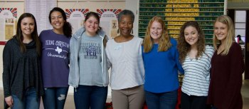 TCU Honors College students who volunteered at our 2019 Arts and Literacy Celebration