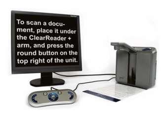 ClearReader+ Advanced - prenosná čítačka s klávesnicou