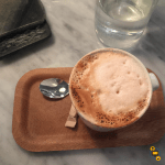 Coffee on tray