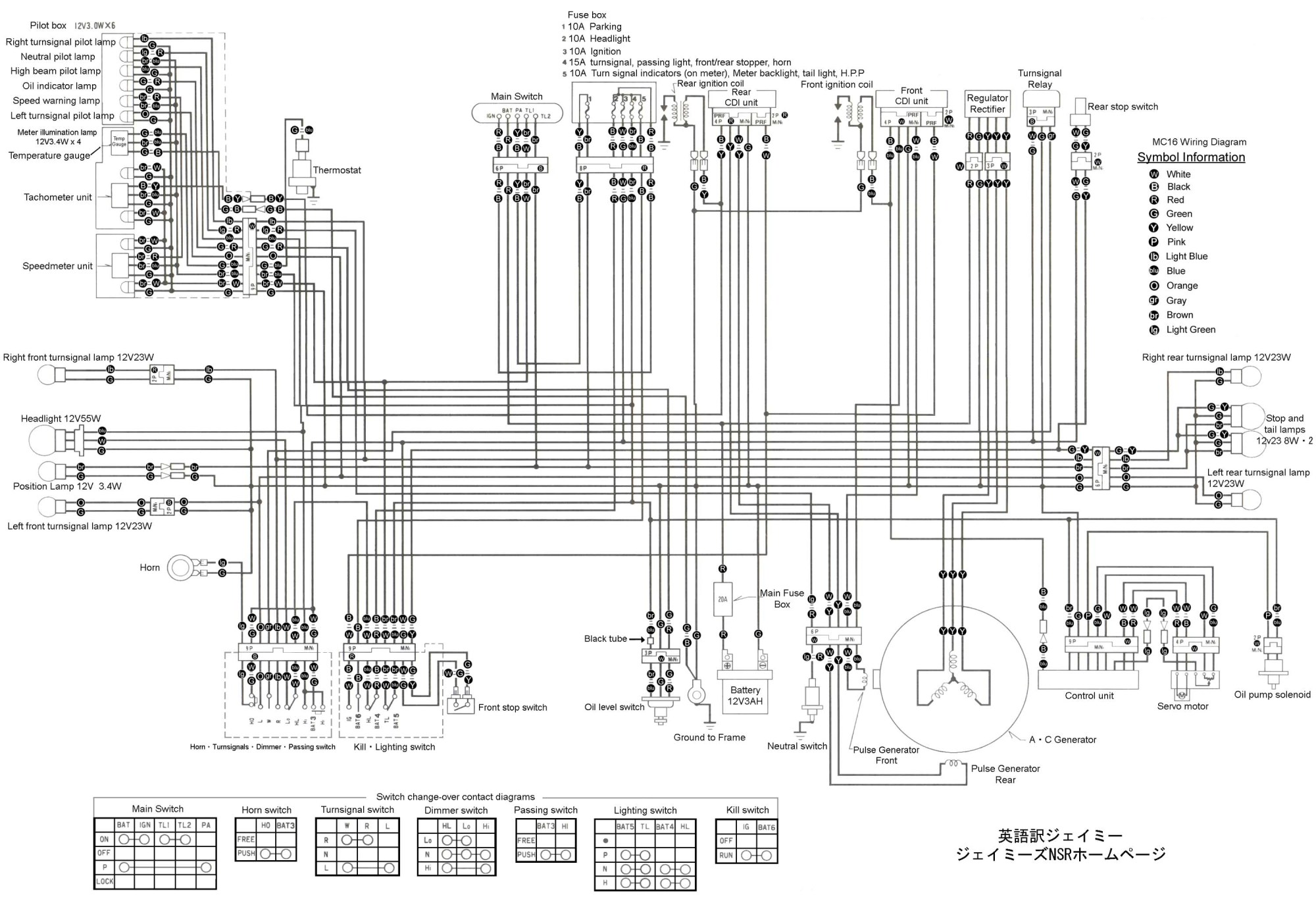 hight resolution of nsr250 wiring diagrams
