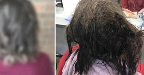 Парикмахер потратила 13 часов, чтобы привести в порядок волосы девушки