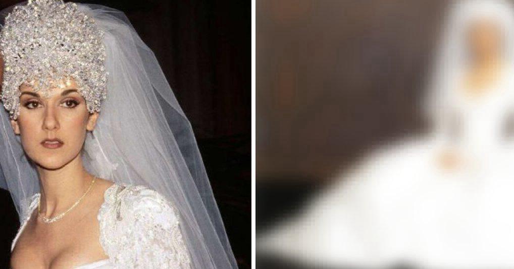 Свадебное платье Селин Дион назвали одним из самых шикарных