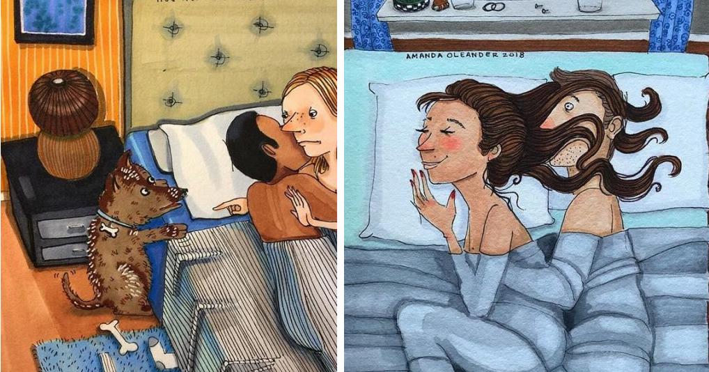 Иллюстрации о том, как выглядит любовь за закрытыми дверями