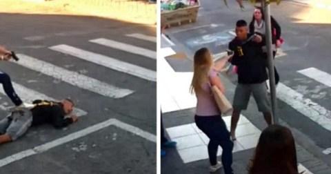 Как женщина-полицейский спасла людей от вооруженного грабителя