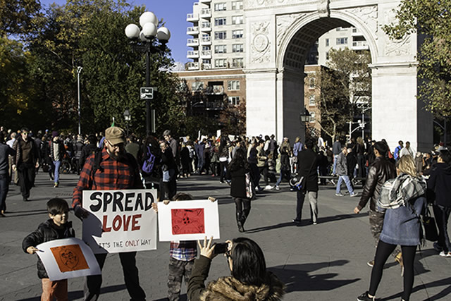 Election Day + 3:  LOVE RALLY in the PARK