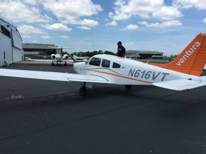 The plane we flew in - Piper Cherokee Warrior also known as a P161