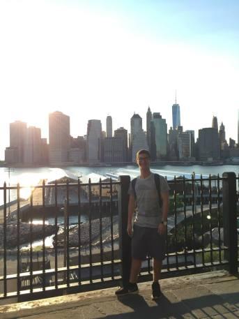 Near Logan's apartment, the Brooklyn Pier