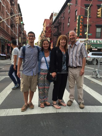 My family and I in Little Italy