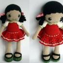 Вязаная кукла Анита. Крючком. Описание