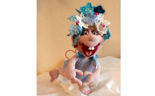 Вязаные крючком куклы Валентишка. Описание
