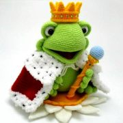 Вязаная крючком игрушка. Принц лягушка. Описание