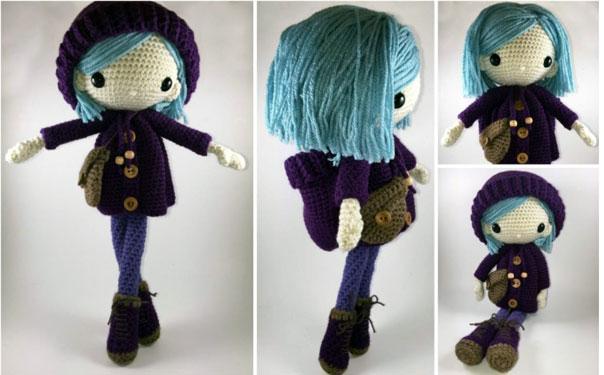 Вязаная крючком кукла Эмилия. Описание
