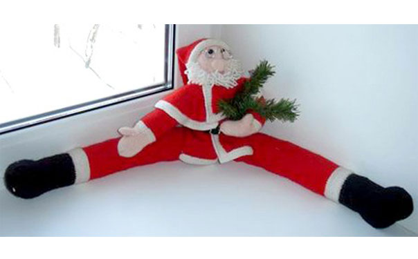 Санта Клаус угловой. Спицами. Описание