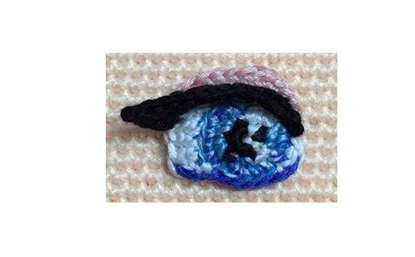 Глаза для куклы. Схема вязания