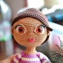 Вязаные кукольные глазки. Мастер-класс