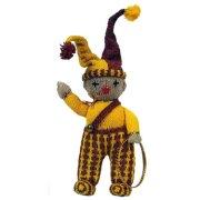 Вязаный клоун с обручем