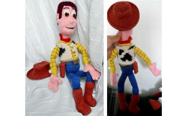 Вязаная кукла-ковбой Вуди. Описание