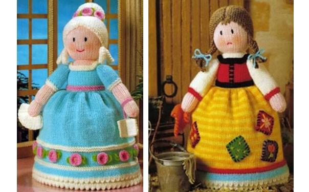Вязаная спицами кукла-перевертыш. Описание
