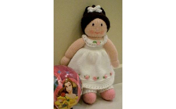 Вязаная кукла. Мисс Амели. Описание