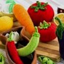 Вязаные овощи и лимон. Описание
