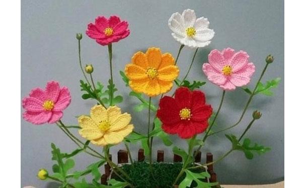 Полевые цветы. Схема вязания крючком