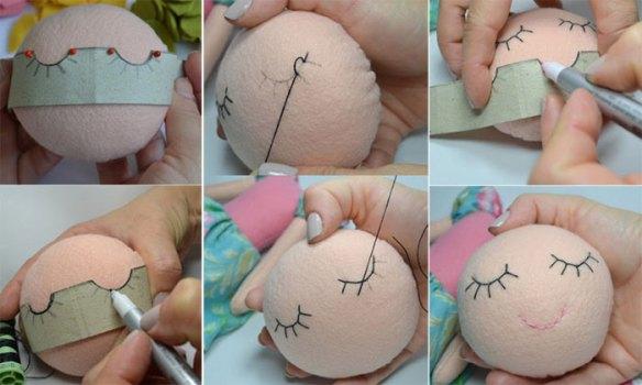 оформление лица вязаной куклы тыква вязаные игрушки