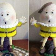 Продам вязаную игрушку Шалтай-болтай