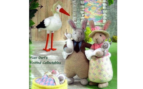 Семейство кроликов и няня Аист. Описание