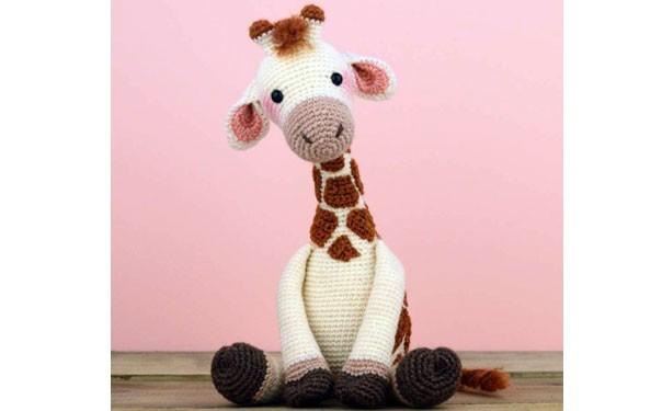 Вязаный жираф Ромми. Крючком. Схема