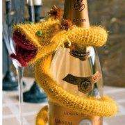 Вязаная желтая змея. Схема