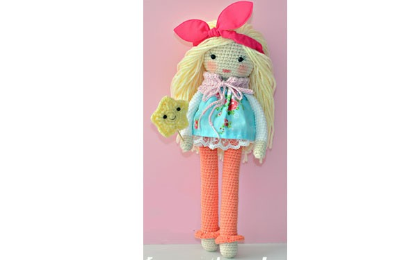 Вязаная крючком кукла Матильда. Схема