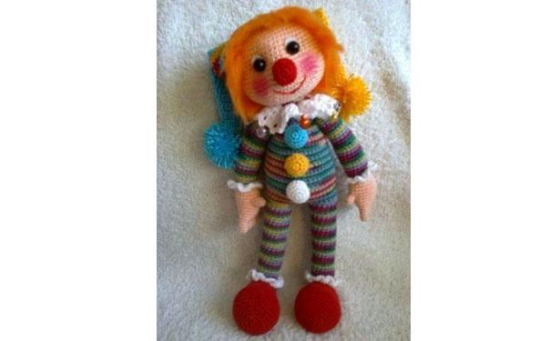 Вязаный клоун Матвейка. Схема