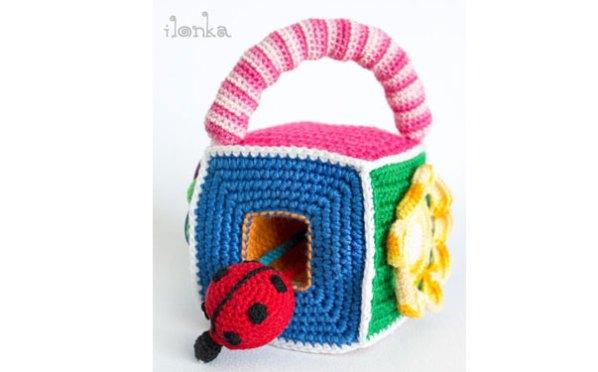 вязаный развивающий кубик схема тыква вязаные игрушки