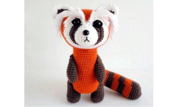 Вязаная красная панда. Схема