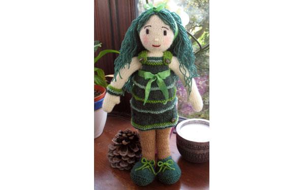 Вязаная кукла Mystical-Fern. Описание