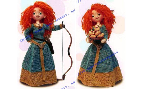 Вязаная крючком кукла Мерида. Схема