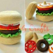 Вязаный гамбургер-пирамида