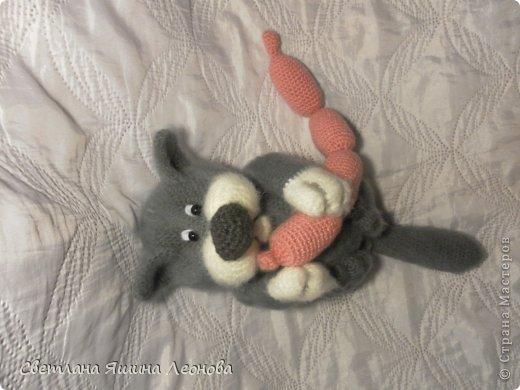 Вязаный крючком кот-ленивец. Схема