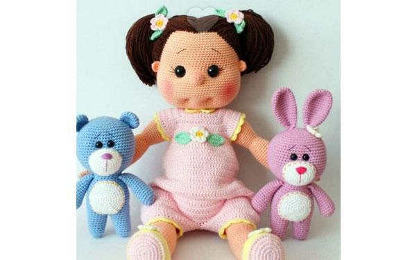 Вязаная кукла Эмма. Схема