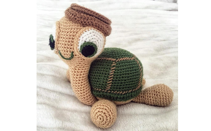 Вязаная черепаха. Схема