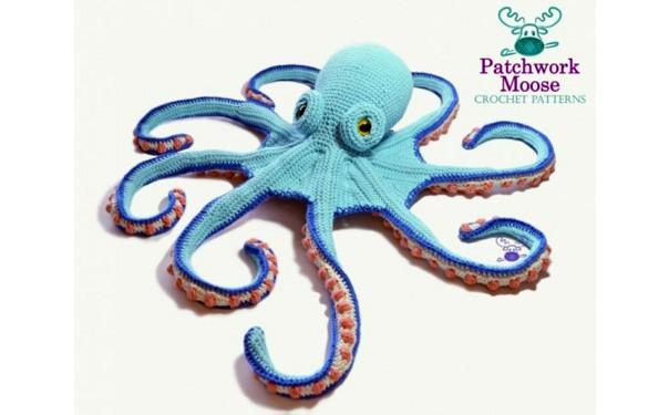 Вязаный осьминог. Схема