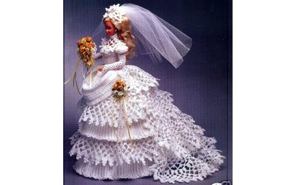 """Платье """"Невеста"""" для куклы"""