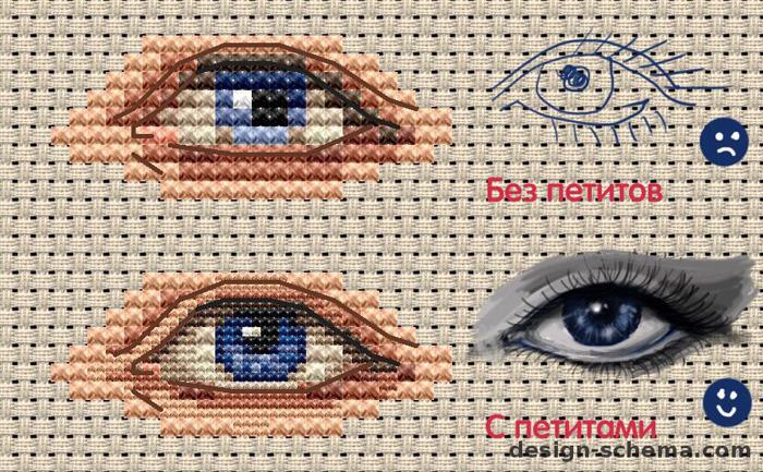 Как вышивать глаза кукле. Мастер-класс