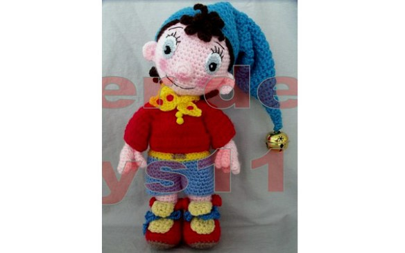 Вязаная кукла Да Да - мультяшный персонаж