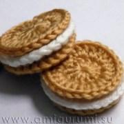 Вязаное крючком печенье. Схема