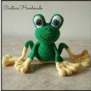 Вязаная зеленая лягушка. Схема