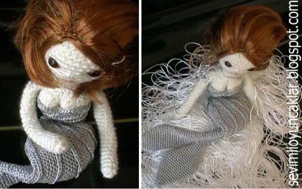 Вязаная кукла Русалка. Схема