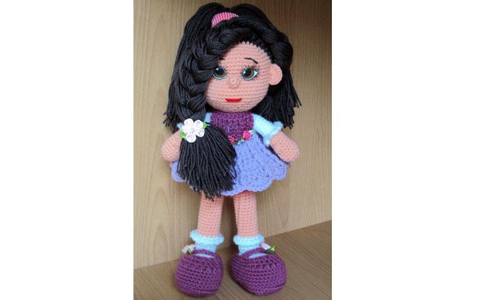 Вязаная кукла Маргаритка. Схема