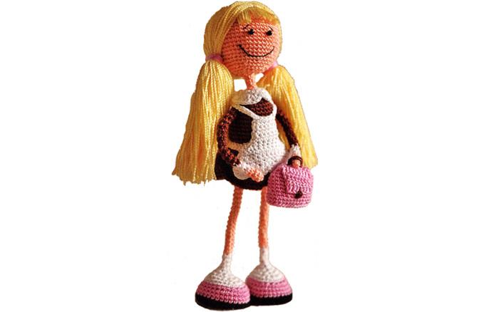 Вязаная кукла Школьница. Схема